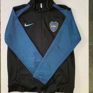 Nike Dri-fit Boca Juniors warmup jacket black/blue
